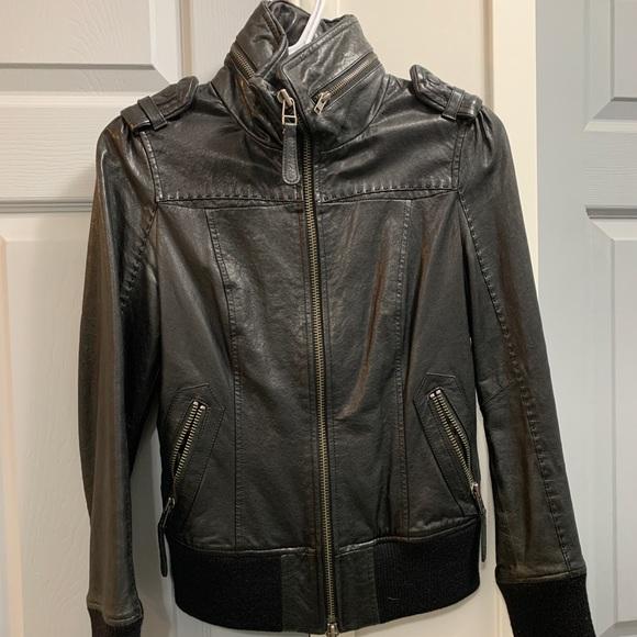 Mackage leather biker jacket XS